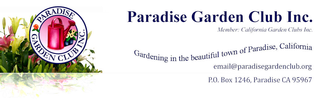 Paradise Garden Club Inc website banner